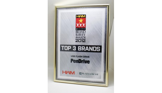 PenDrive has won Top 3 Brands (USB Flash Drive category) from HWM Malaysia!