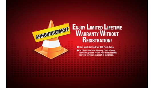 [Announcement] Enjoy Limited Lifetime Warranty Without Registration!