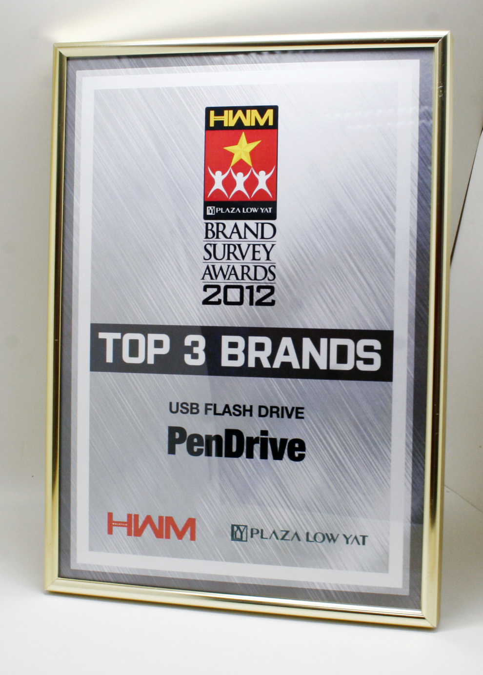 PenDrive won Top 3 Brands from HWM Malaysia